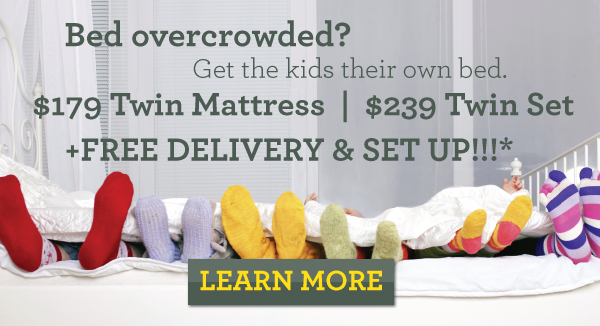 Free Delivery on Twin Mattresses